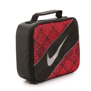 Nike Swoosh Red and Black Lunch Bag
